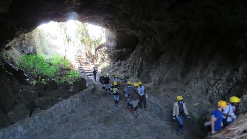 Musanze caves near Virunga National Park in Rwanda.