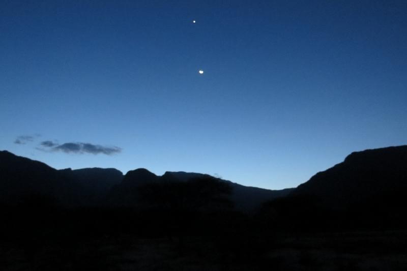 Ndoto mountains at night