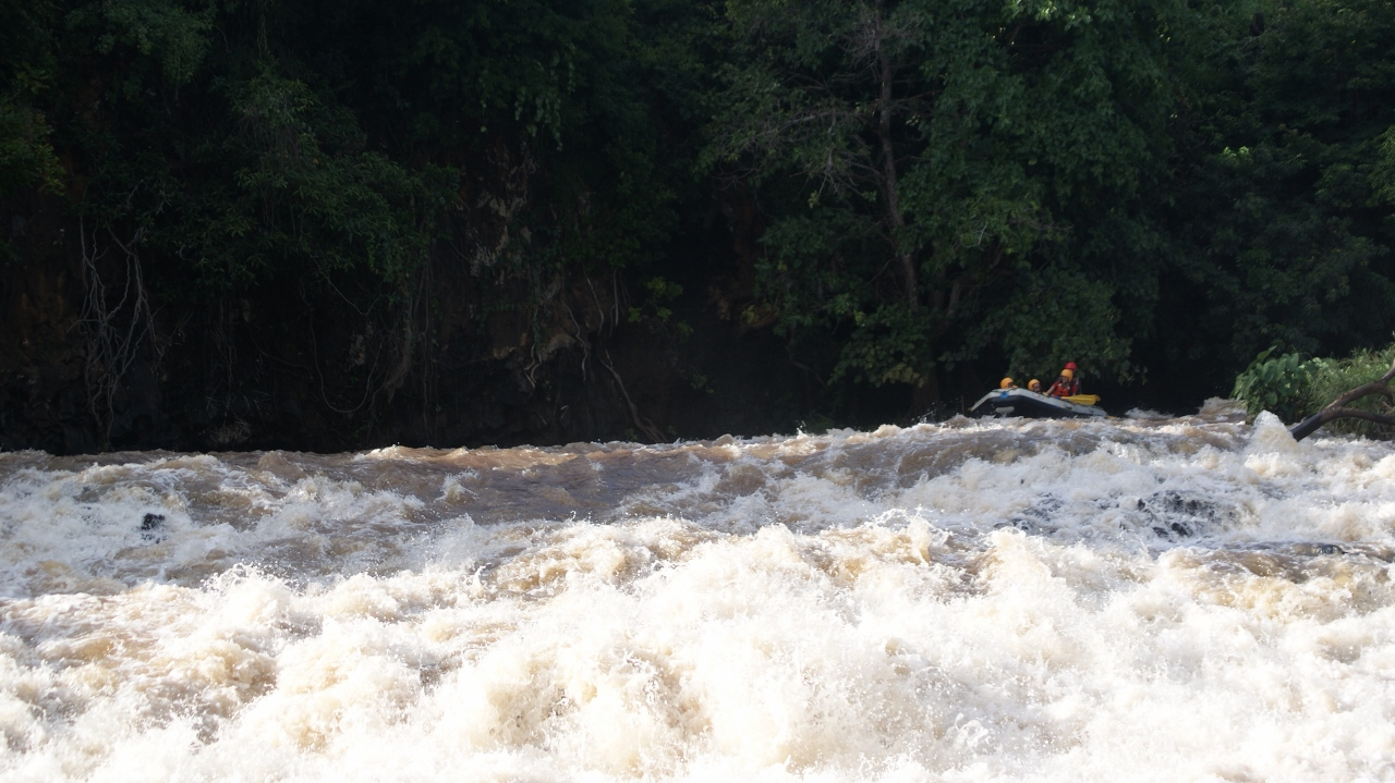 White-water rafting on Sagana River that flows into the mighty Tana River with Savage Wildernes