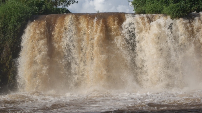 Kiringete rapid on Sagana River that flows into the mighty Tana River at Savage Wilderness