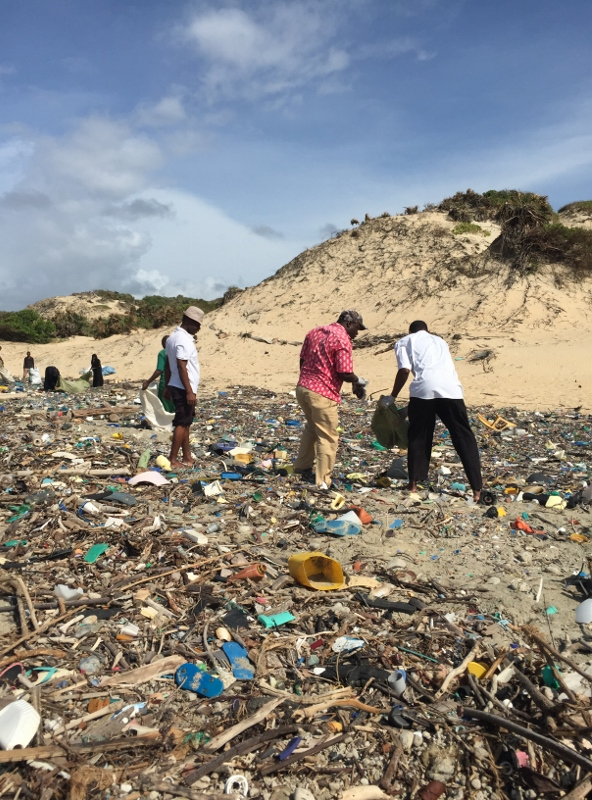 Lamu Beach clean up. In one day 5 tonnes of plastic debris was removed from the beach. Picture courtesy Dipesh Pabari