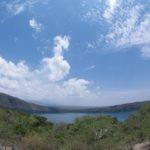 Lake Chala - a crater lake on slopes of Kilimanjaro - with the Kenya-Tanzania border running through the middle. Copyright Luca Borghesio