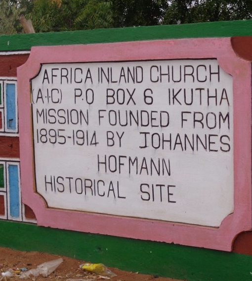 Africa Inland Church in Ikutha founded 1895-1914 by Johannes Hofmann - a historical site Copyright Rupi Mangat