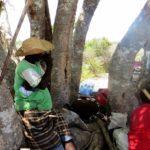 Fishers meeting at Kwasasi about the proposed coal plant in Lamu - 21 km north of Lamu on the mainlnd - copyright Maya Mangat