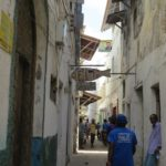 Narrow alleys in Lamu Stone Town that's continuously been lived in since the 13th century and is the oldest Swahili town in East Africa - copyright Maya Mangat