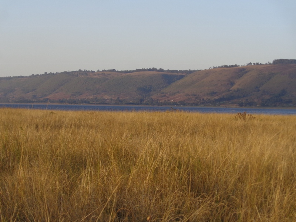 Lake Olbolossat edged by the Aberdare mountains  Copyright Rupi Mangat