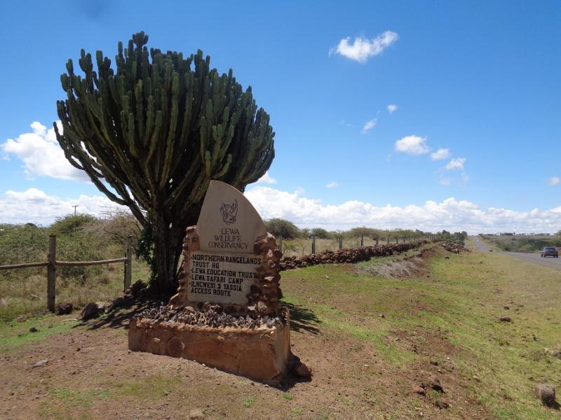 Entrance to Lewa Conservancy enroute to Isiolo/Samburu/Lake Turkana in north Kenya -copyright Rupi Mangat