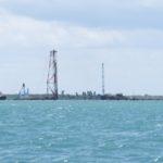 Lamu port under construction opposie the isles of Lamu and Manda Copyright Maya Mangat
