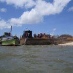 Landing at Mwangawanda (the place of black soil) to catch matatu to Pate village on Pate island Copyright Maya Mangat