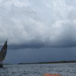 Sailing through a storm on Indian Ocean to Pate island Copyright Maya Mangat