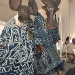 Dancers in Cameroon masks with indigo dyed fabric at African Heritage House.. Picture: Gilbert Otieno