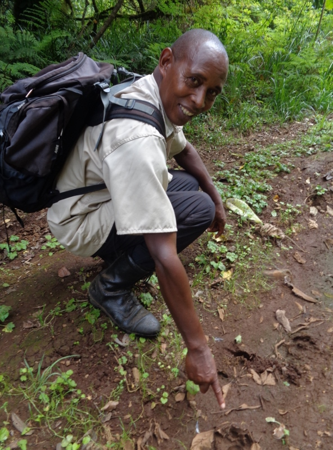 Joseph Munene th guide cum chef at Castle Forest Lodge Copyright Rupi Mangat