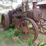 Tractor parked at Swara Plains Acacia Camp outside Nairobi - it's more than 50 years old. Copyright Rupi Mangat