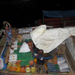Dhow being loaded at Lamu island with sugar, soap, oil to sail to other islands of Lamu archipelago Photo: Maya Mangat