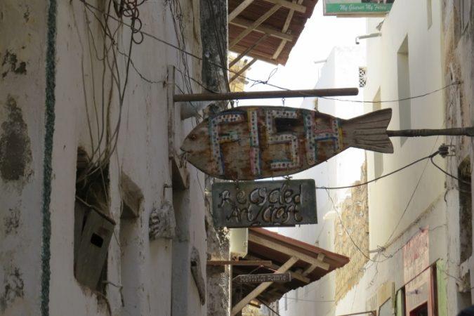 Fish - recycled art galllery on Lamu Stone Town on Lamu island Photo: Maya Mangat