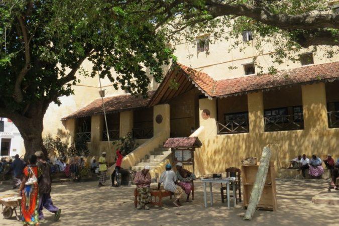 Mkunguni Square by Lamu Fort in Lamu Stone Town on Lamu island Photo: Maya Mangat