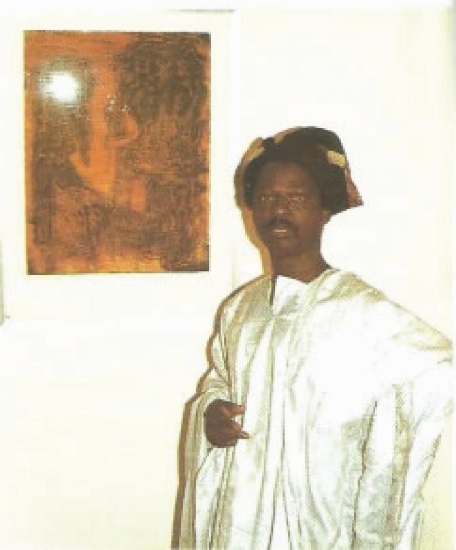 Nigerian artist Bruce Onobrakpeya at First Nigerian Festival in Nairobi in 1972 - copyright Alan Donovan