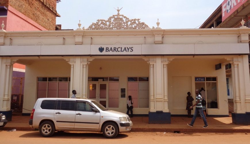 Building from the early 1900s - Barclays Bank on Jinja main street Copyright Rupi Mangat