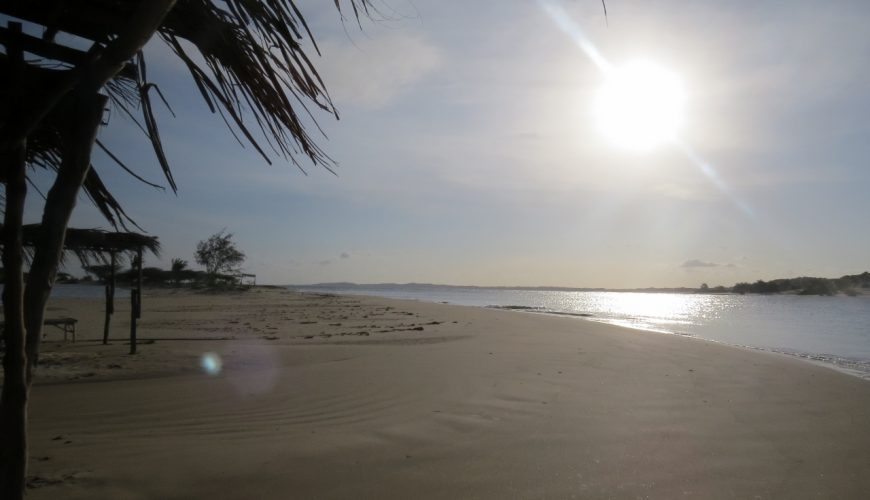 Beautiful beach by Diamonds on Manda Island opposite Lamu island on Kenya coast Copyright Rupi Mangat