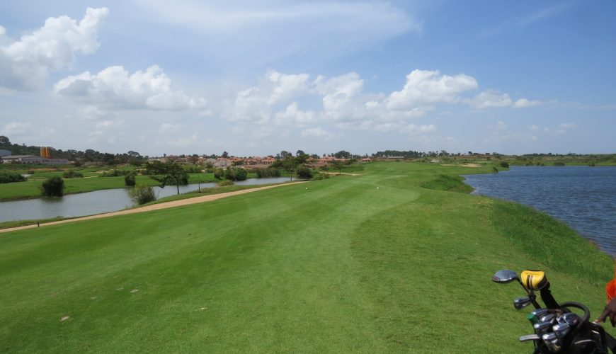New golf course at Lake Victoria Serena Resort and Spa near Entebbe, Uganda - copyright Rupi Mangat