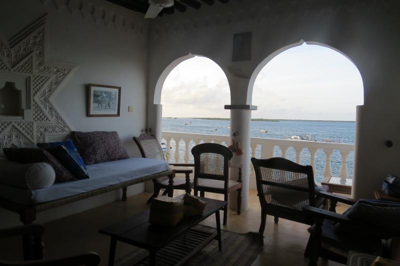 View of seafront overlooking Manda island from Shella Bahari Guest House Copyright Rupi Mangat
