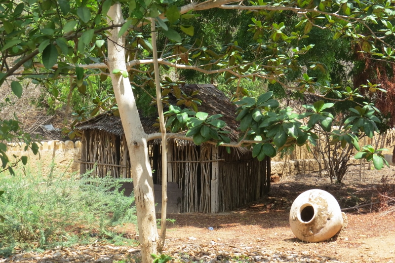 Grave yard where an important elder is buried from a few centuries ago, his grave under a hut. - copyright Rupi Mangat