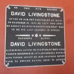 Plaque at Livingstone's house in Kazeh Copyright Rupi Mangat