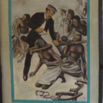 Artist's impression of Livingstone rescuing slaves at Ujiji - copyright Rupi Mangat