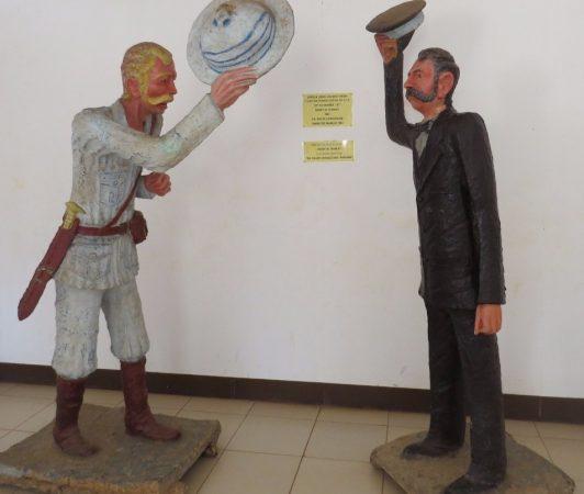 """""""Dr Livingstone, L presume?"""" The epic soundbite delivered by Henry Morten Stanley (l) to Dr David Livingstone(r) on 10 November 1871 Copyright Rupi Mangat"""