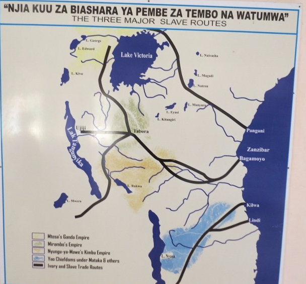 The slave routes from the heart of Africa and more. Copyright Rupi Mangat