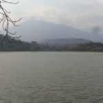 Mount Meru by Lake Duluti crater lake Copyright Rupi Mangat