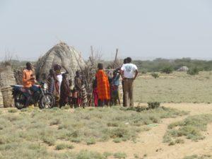 Turkana family further north of Lodwar Copyright Rupi Mangat