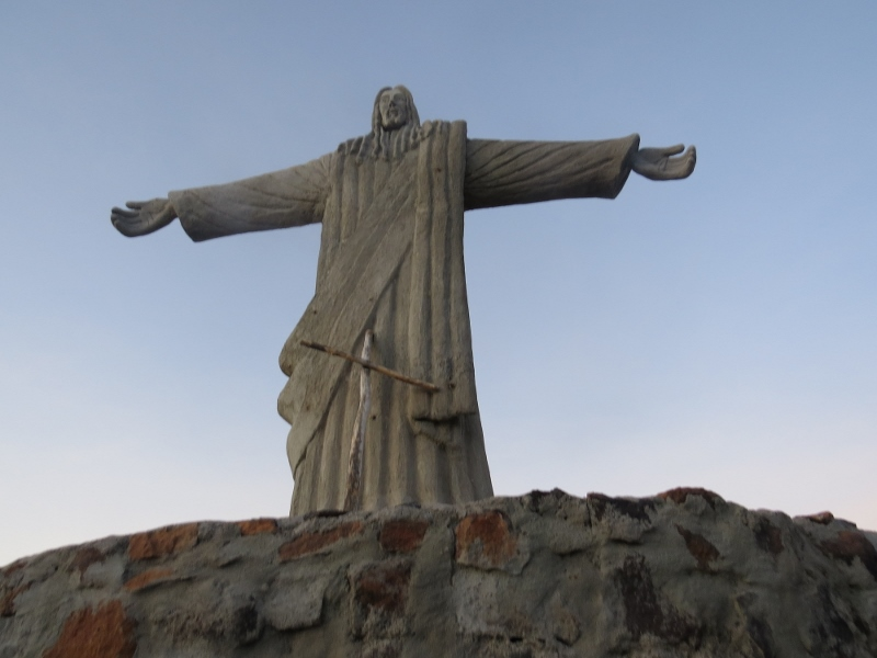 The statue of Christ watches over the city of Lodwar Copyright Rupi Mangat
