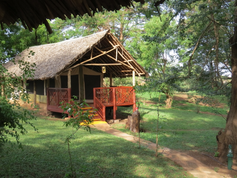 Tented abode - Voyager Ziwani by the banks of River Samte Copyright Rupi Mangat
