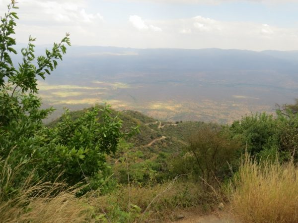 The winding road from Elgeyo Marakwet escarpment down into the valley - copyright Rupi Mangat