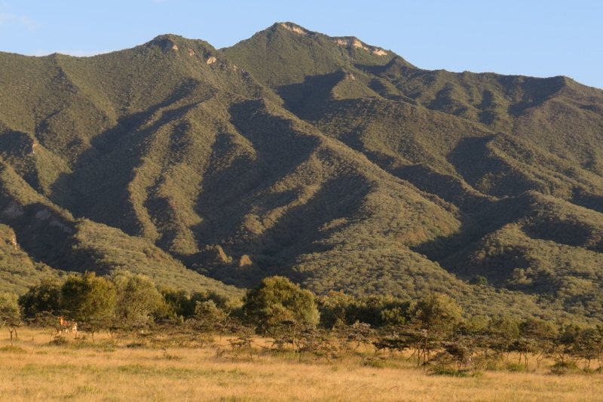 Western flanks of volcanic Mt Longonot with its lava ridges Copyright Rupi Mangat
