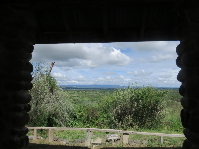 The museum at Olorgesailie looking out at the western horizon from where the moon rises - copyright Rupi Mangat 5 May 2018