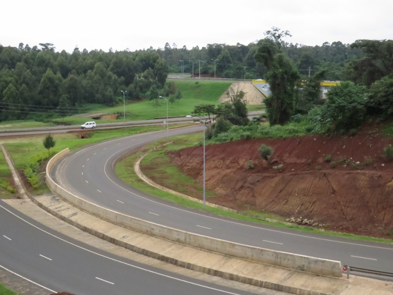 From a buff overlooking the southern bypass with its loops and bridges. Copyright Rupi Mangat