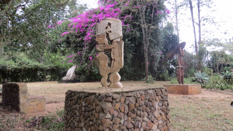 Kisii Stone called THE UNIVERSAL COUPLE, a brilliant work of art and one of Expedito best works by Murumbi Peace Memorial at Nairobi City Park. Copyright Rupi Mangat Feb 2019 (800x450)