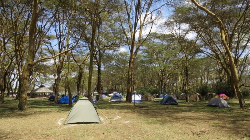 My tent surrounded by ash at Lake Naivasha KWS ground Copyright Rupi Mangat (800x450)