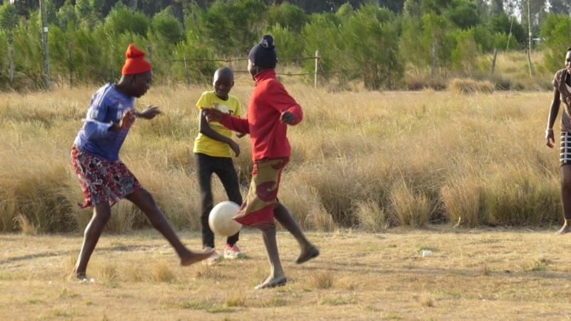 Korongo girls' fotball team at Lake Ol Bolossat Copyright Rupi Mangat Feb 2019 (800x450)