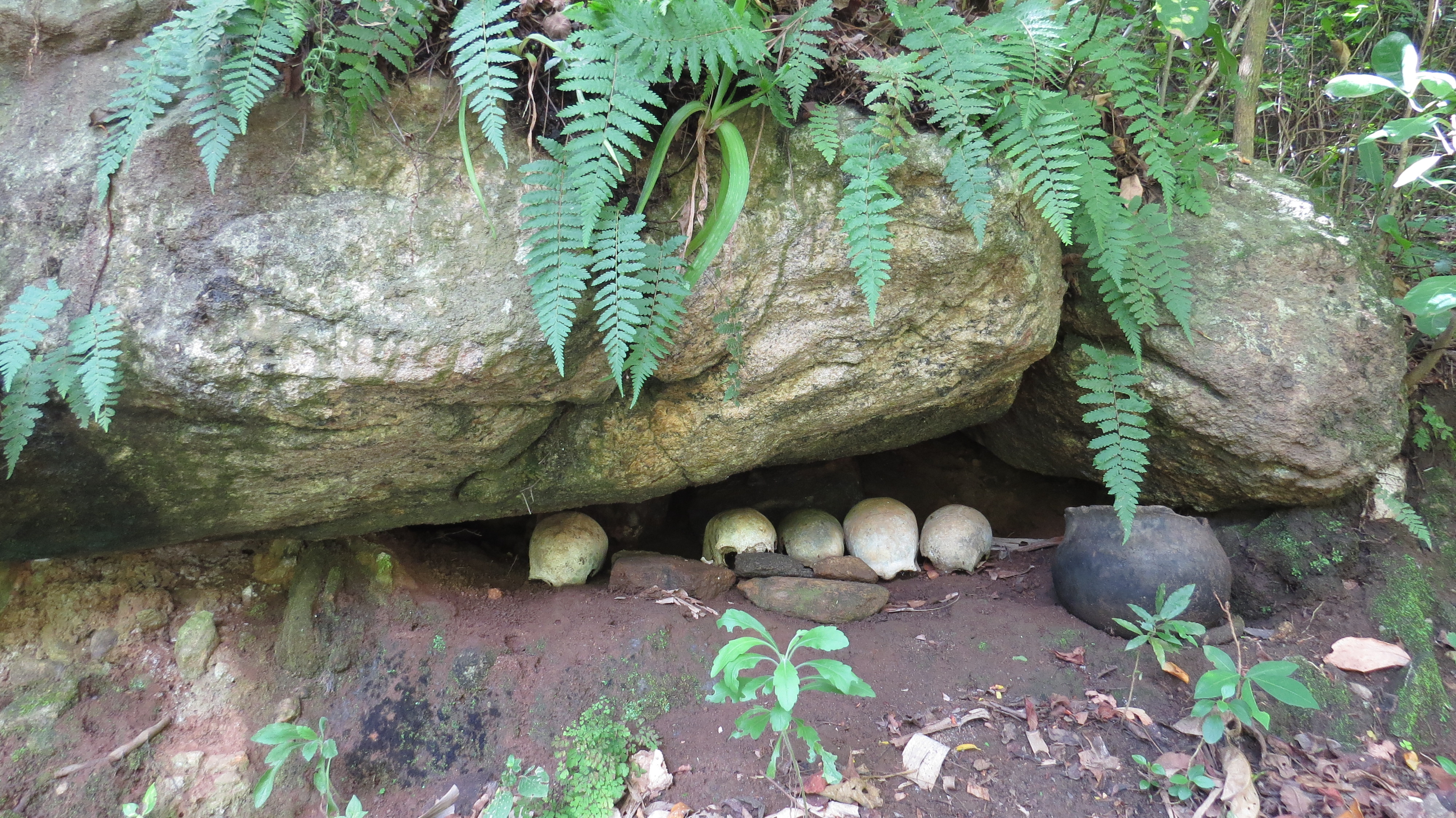 The ancestral skull cave on Charles Miekenyi Mwakio's farm that houses Kenyatta Caves - in Taita Hills. Copyright Rupi Mangat
