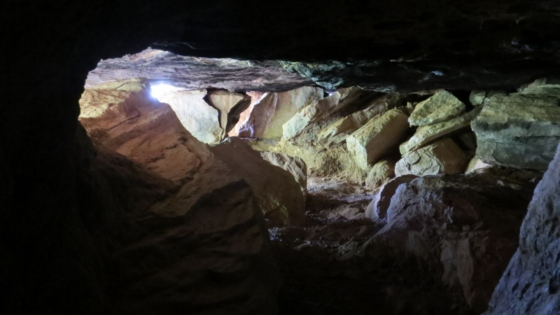 The Capitilist Cave on Charles Miekenyi Mwakio's farm that houses Kenyatta Caves - in Taita Hills. Copyright Rupi Mangat (800x450)