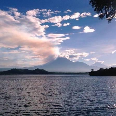 Mount Nyiragongo and Lake Kivu From Lake Kivu Serena Hotel in Gisenyi, Rwanda. Courtesy Lake Kivu Serena