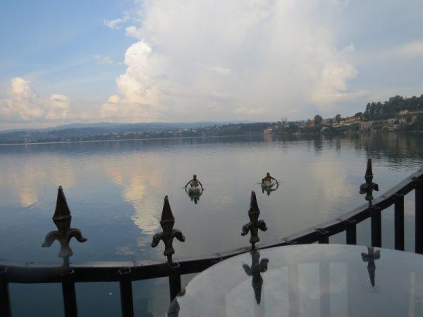 Children floating on gunny sacks filled with empty plastic bottles on Lake Kivu at Bukavu - Copyright Rupi Mangat (800x600) (800x600)