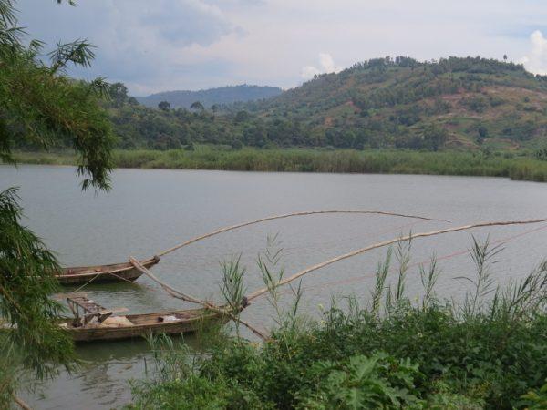 Fishing boats on Lake Kivu near Bukavu en route to Kahuzi Biega National Park that is 30 km interior - Copyright Rupi Mangat (800x600)