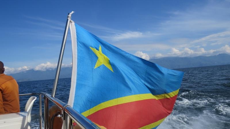 Sailng on Lake Kivu to Kahuzi-Biega National Park, DRC. Copyright Rupi Mangat