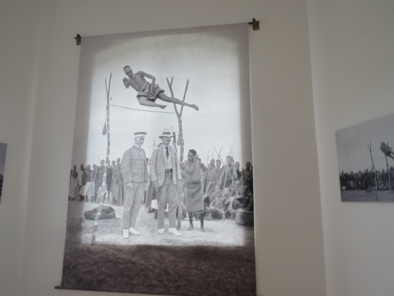 Inside Krandt House Kigali a pictue of Rwandan jumping metres high. Copyright Rupi Mangat. One time use only (800x600)