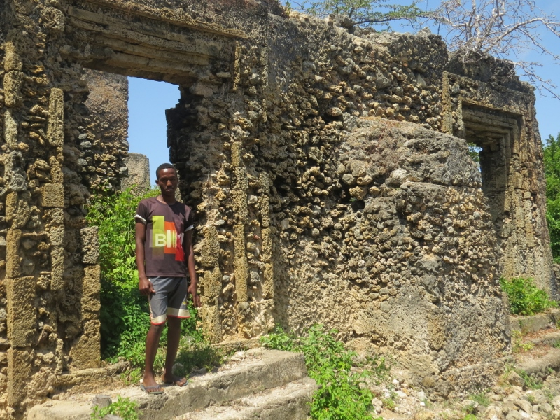 Said Hassan the young guide at The hidden mosque near Fumo Liyogos grave near Kipini on tip of tana delta - rupi mangat - 26 Oct 2019 one time use only (800x600)