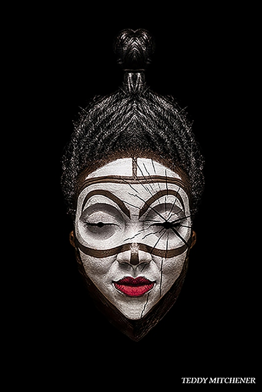 Disappearing Africa mask, Punu of Gabon, copyright Teddy Mitchener (534x800)